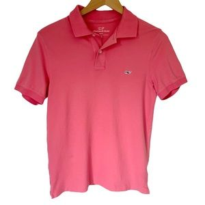 Vineyard Vines Salmon Pink Slim Fit Polo Shirt